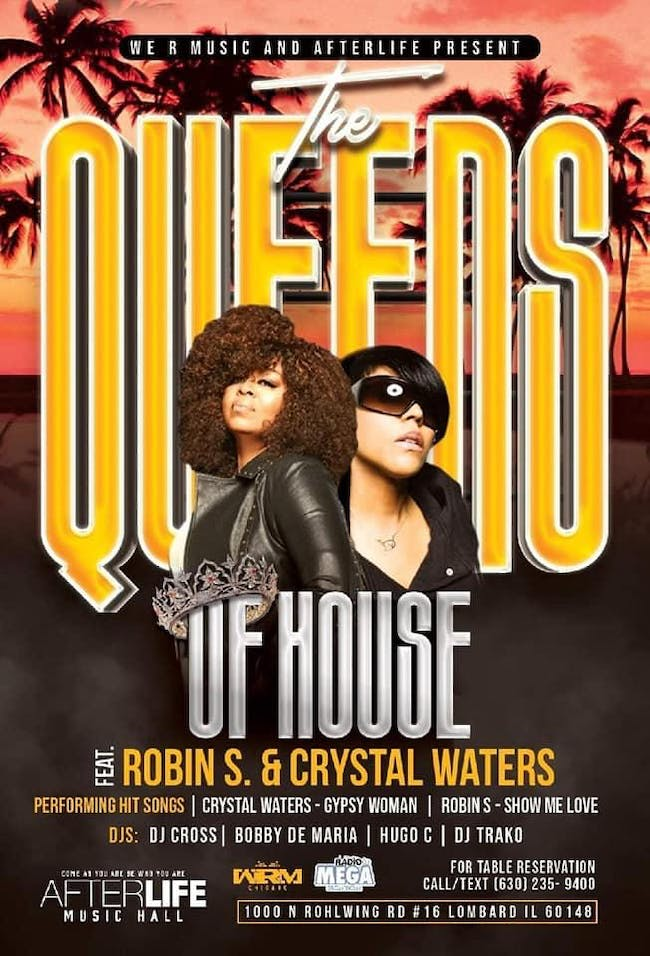 The Queens of House Music - Robin S & Crystal Waters Live!