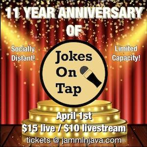 (Indoors + Distanced!) Jokes On Tap - 11 Year Anniversary