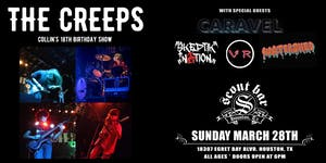 THE CREEPS w/ Caravel, Skeptik Nation, VR, and Watershed