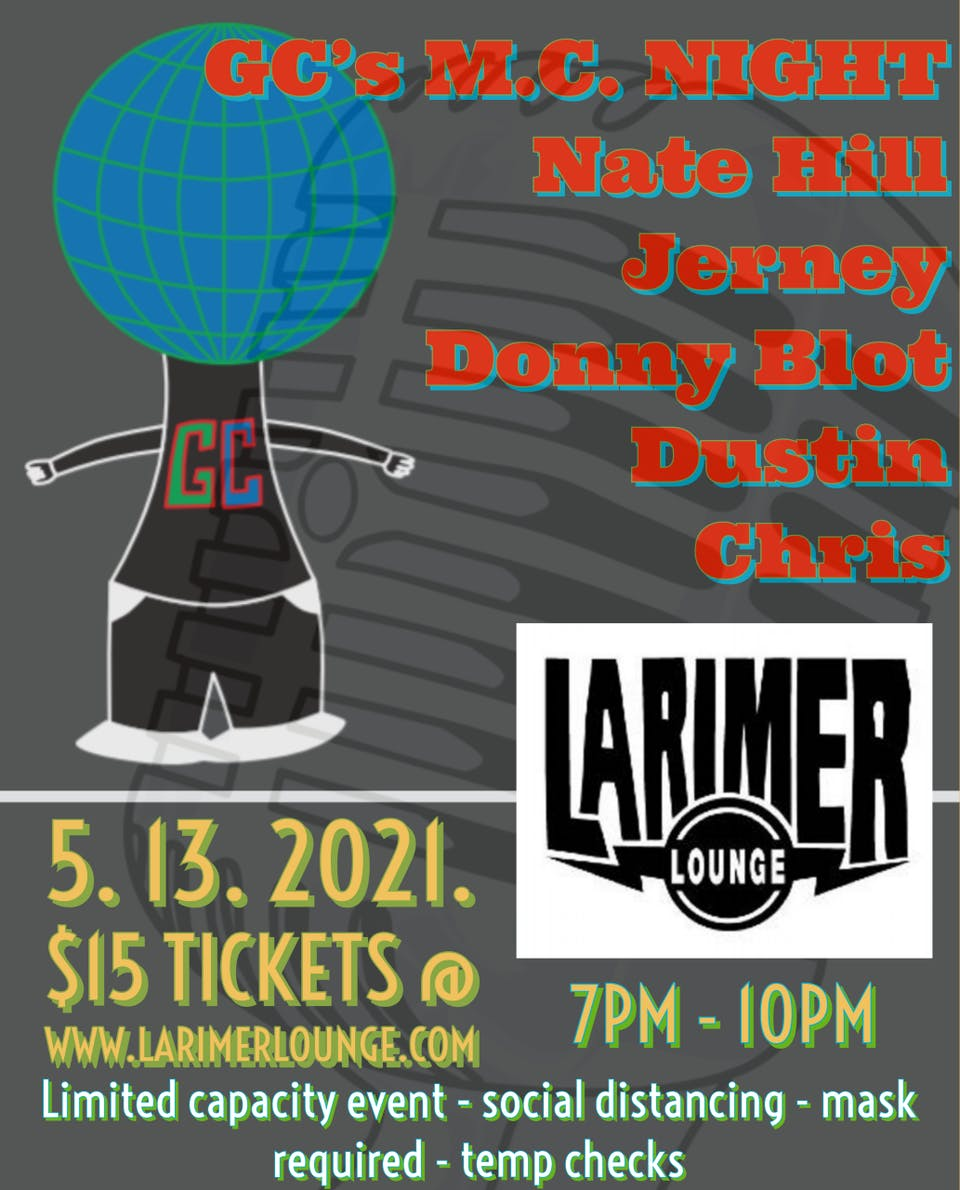 MC Night with Nate Hill / Jerney / Donny Blot / Chris Tyr / Dust Lightyear