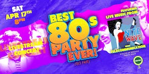 NVCS presents NITE WAVE Best '80s Party Ever! (Live Stream + Golden Ticket)