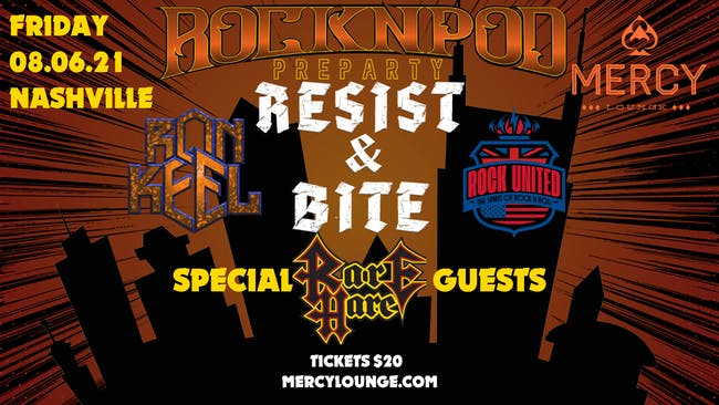 ROCKNPOD Preparty: Resist & Bite, Rare Hare Jam, Ron Keel, and Rock United