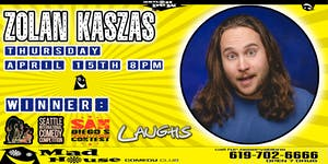 Zoltan Kaszas, Champ - San Diego's Funniest Champ, as seen on Laughs on Fox