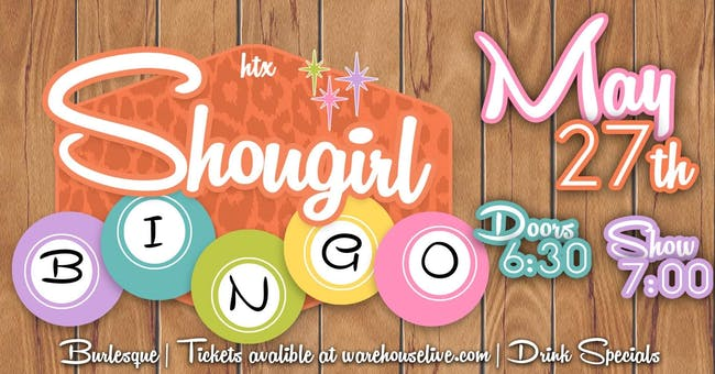 SHOWGIRL BINGO - with HOSTS KITTY CORVAIR & PIPER DAILY
