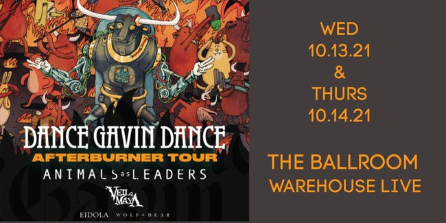 DANCE GAVIN DANCE - AFTERBURNER TOUR - NIGHT 2