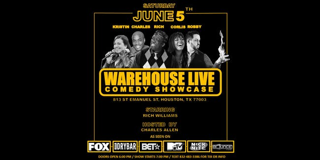 WAREHOUSE LIVE COMEDY SERIES