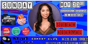 Subah Agarwal as seen on the Jim Jefferies Show, Comedy Central and more!