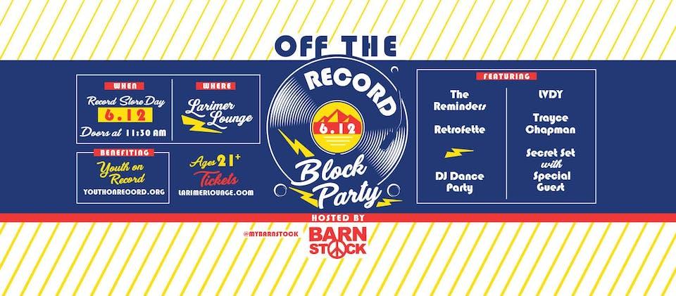 Off The Record Block Party Secret Set REVEALED: Neoma
