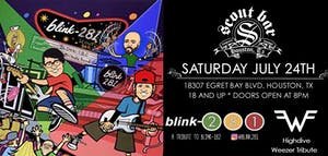 Blink 281- a tribute to Blink 182 + Highdive- a tribute to Weezer