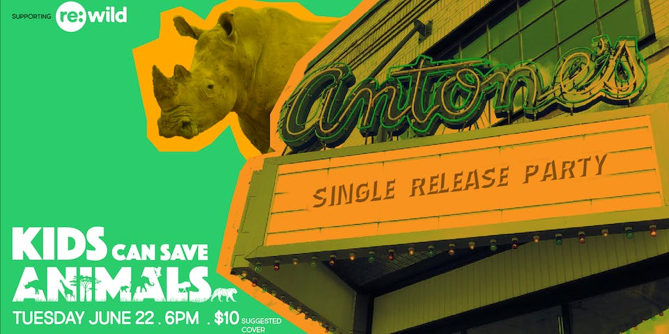 """UPSTAIRS: """"Kids Can Save Animals"""" Single Release Party"""