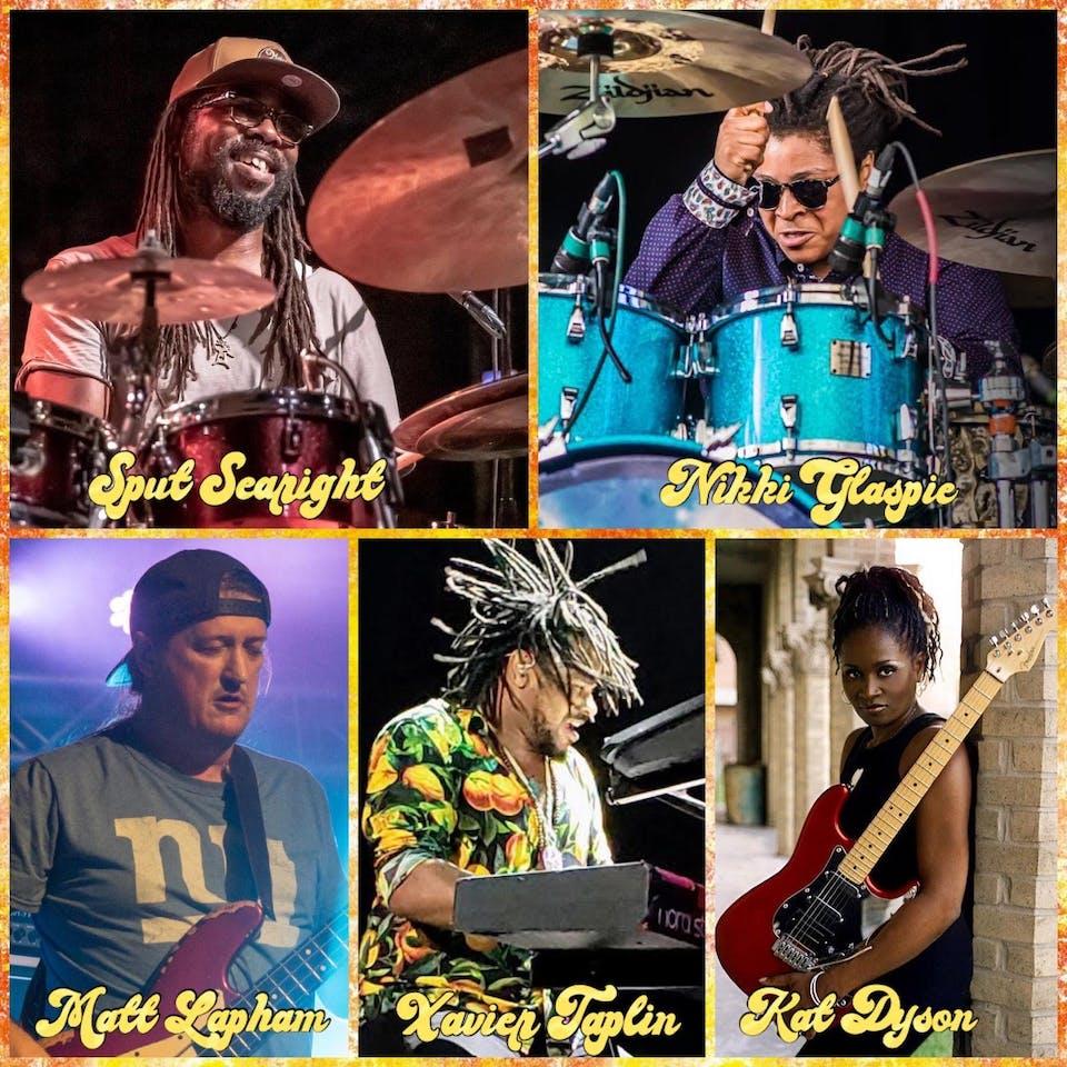 KAMANI: Nikki Glaspie, Sput Searight, Xavier Taplin, Kat Dyson, Matt Lapham