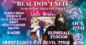"""CHILLZ MARLEY Pre-CD Release Party """"Real Don't Sell"""""""