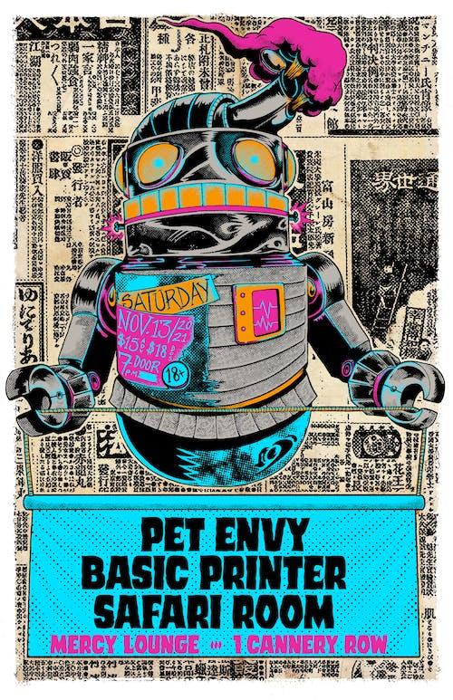Pet Envy, Basic Printer, and Safari Room