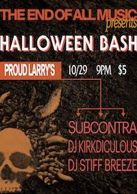 Halloween Bash with Subcontra, DJ Kirkdiculous and DJ Stiff Breeze
