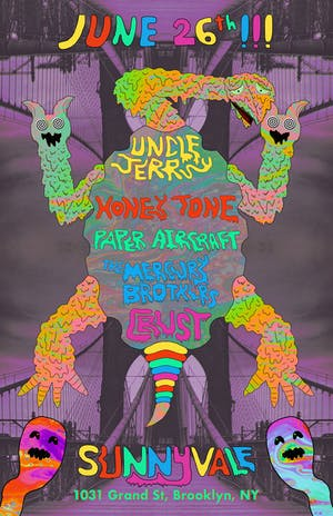 Uncle Jerry, Honey Tone, Paper Aircraft, The Mercury Brothers, Crust