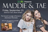 K-FRG Presents Maddie & Tae. TICKETS AVAILABLE THROUGH K-FRG ONLY!!!!!!!!!!