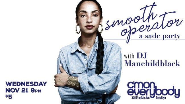 Smooth Operator: A Sade Party