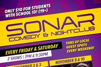 SONAR Comedy FRIDAY NOVEMBER 23rd - 9:30pm Show - Donovan Deschner & Carl Turnbull