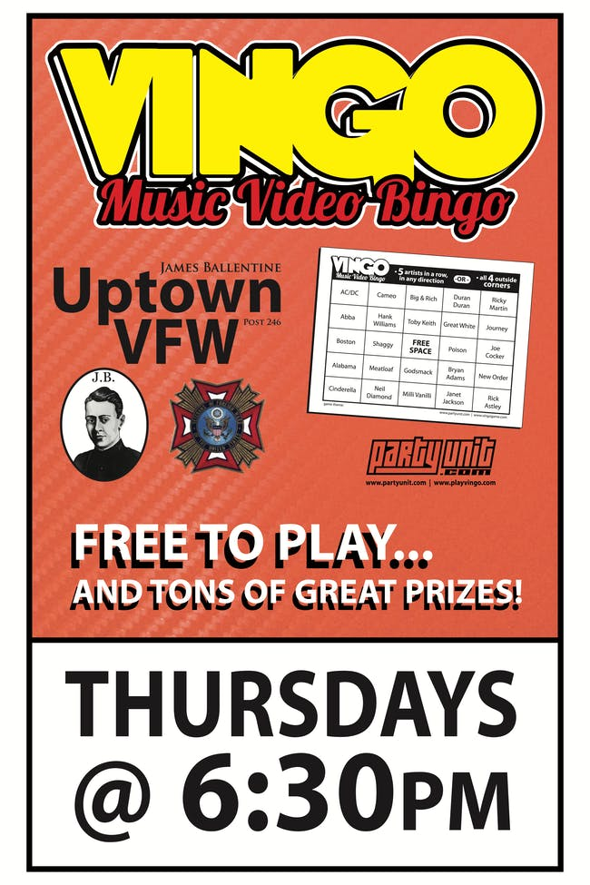 VINGO: Music Video Bingo. Watch & Play!