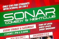 SONAR Comedy FRIDAY DECEMBER 14 - 9:30pm Show - James Kennedy & Barry Piercey