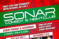 SONAR Comedy FRIDAY DECEMBER 21 - 7:00pm Show - Sterling Scott & He Fanghzou