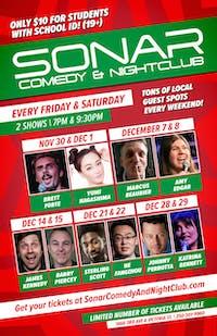 SONAR Comedy SATURDAY DECEMBER 22 - 9:30pm Show - Sterling Scott & He Fanghzou