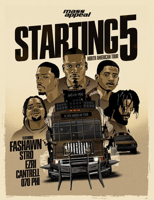 MassAppeal Starting 5 featuring Fashawn, Stro, Ezri, Cantrell, 070 Phi