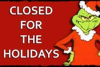 Closed For The Holidays, 12/24/2018