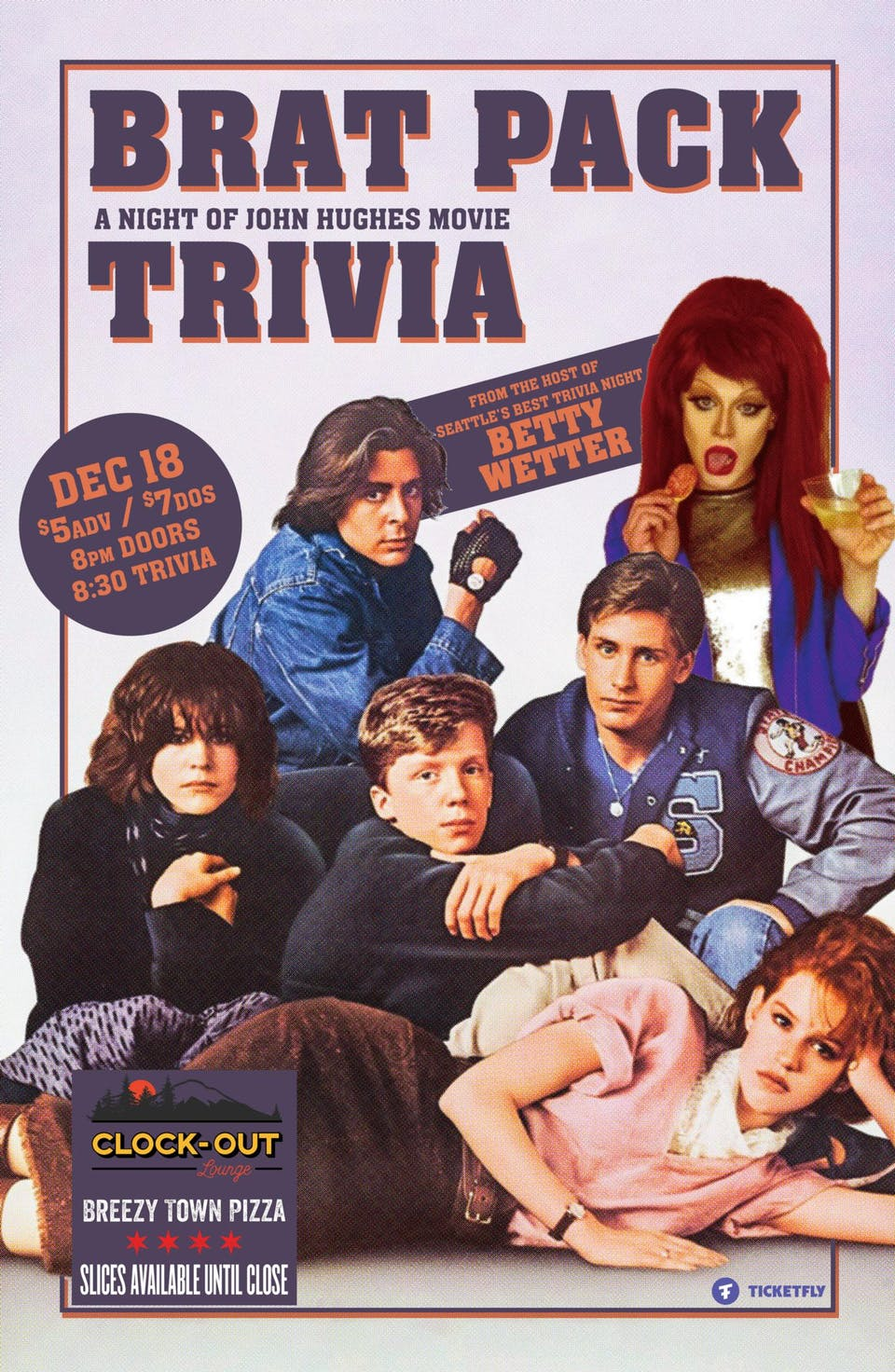 """Brat Pack"" A Night of John Hughes Movie Trivia Hosted By Betty Wetter"