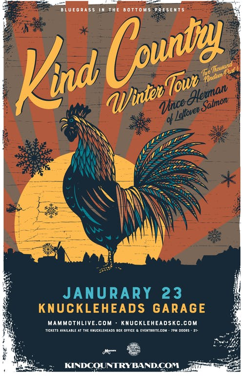 Bluegrass In The Bottoms presents  Kind Country w/ Vince Herman (of Leftover Salmon) with Whiskey for the Lady