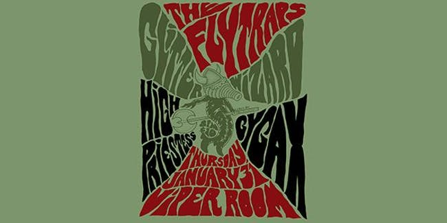 THE FLYTRAPS, GLITTER WIZARD,  GYGAX, HIGH PRIESTESS