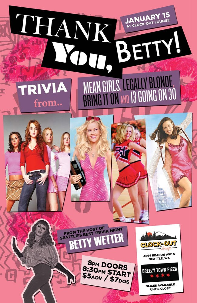 Thank You, Betty Wetter Trivia Night