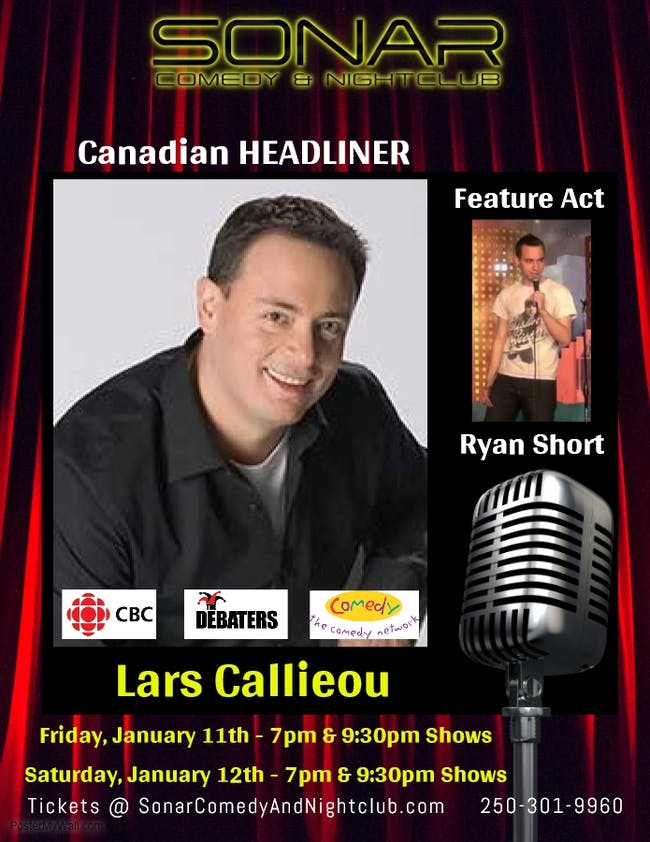 The Lars Callieou Comedy Show at SONAR - SATURDAY JANUARY 12th - 7:00pm Show
