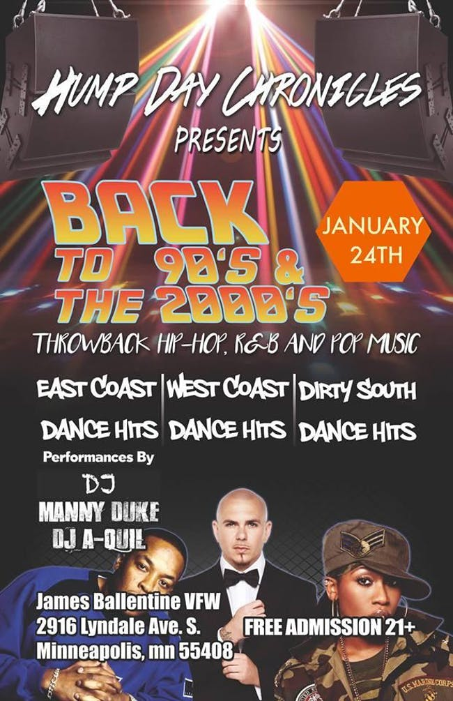 Back To The 90's & 2000's Dance Party
