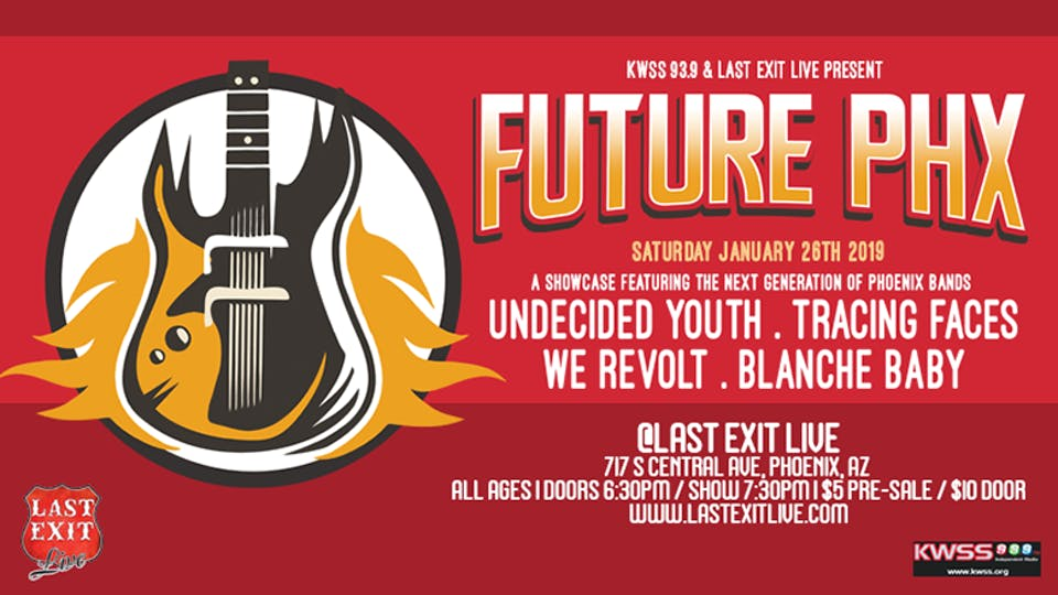 """""""FUTURE PHX""""  w/ Undecided Youth, Tracing Faces, We Revolt, Sophie Dorsten"""