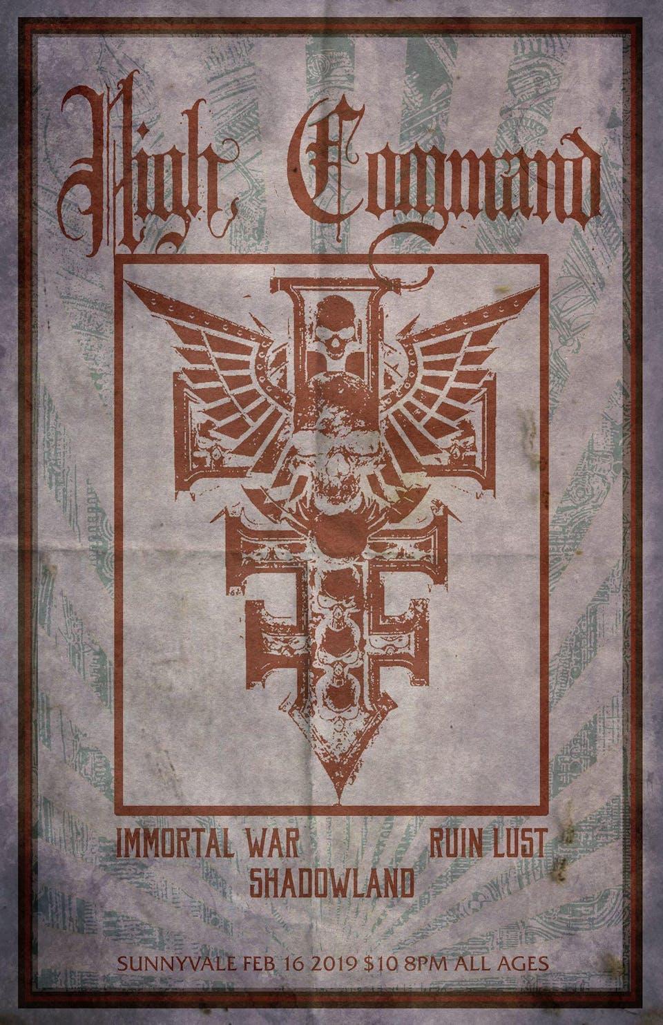 High Command / Immortal War / Ruin Lust / Shadowland