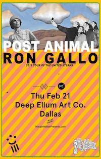 Ron Gallo • Post Animal • Duncan Fellows