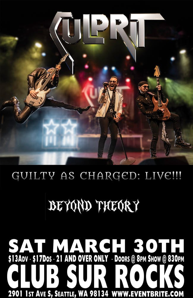 CULPRIT - Beyond Theory - Spectres of Chaos.  21 +