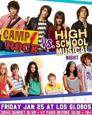 Club 90's + Y2K • Camp Rock vs. High School Musical Night