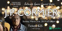 Intimate Concert Series: J.P. Cormier