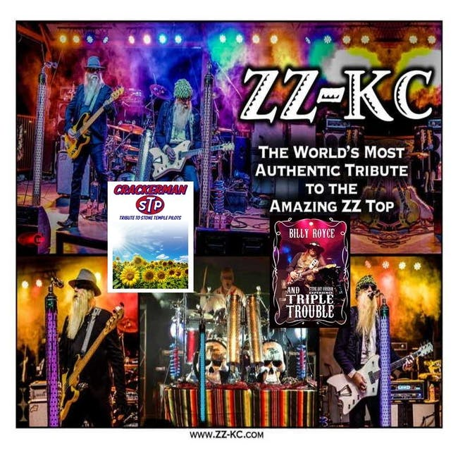 ZZ-KC (ZZ Top Tribute), Billy Royce Triple Trouble (Stevie Ray Vaughan Tribute) and Cracker Man (Stone Temple Pilots Tribute)
