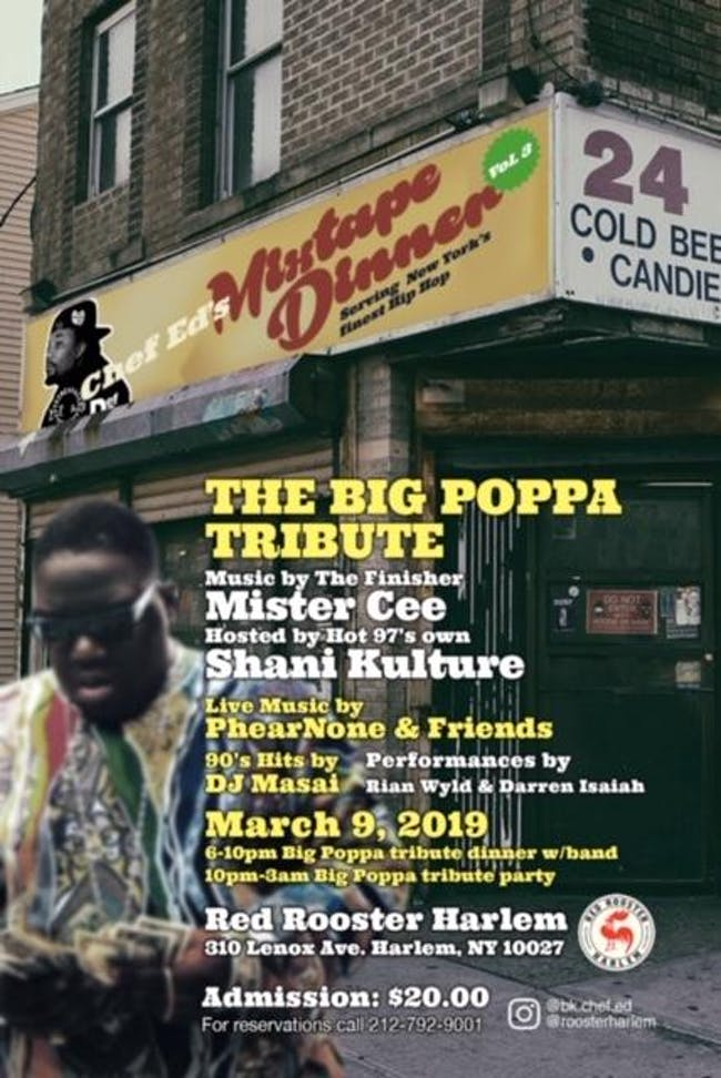 Chef Ed's Mixtape Dinner Series: The Big Poppa Tribute