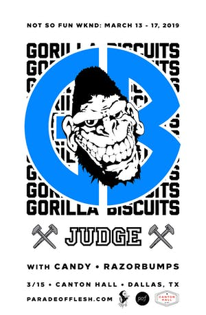 NSFWknd: Gorilla Biscuits •  Judge • Candy • Razorbumps