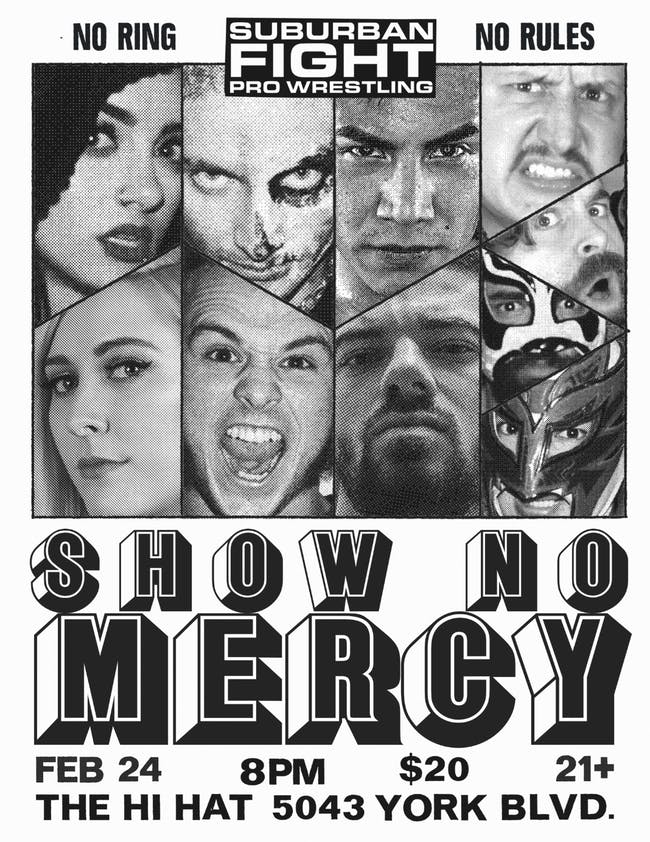Suburban Fight Pro Wrestling - No Ring, No Rules - Show No Mercy