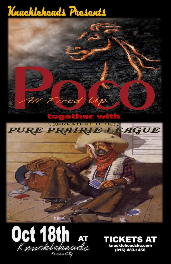 POCO with Pure Prairie League – Tickets – Knuckleheads