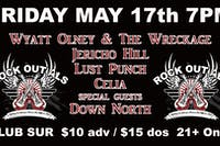 Rock Out ALS w/ Wyatt Olney & The Wreckage/Celia/ Lust Punch + Guests 21 +