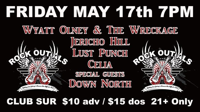 Rock Out ALS w/ Wyatt Olney & The Wreckage /Jericho Hill + Guests 21 +