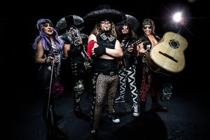 Metalachi with Shark in the Water