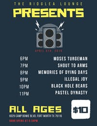 Pastel Dynasty, Black Hole Bears, Illegal Joy, & more in the Lounge