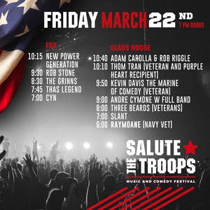 SALUTE THE TROOPS FRIDAY
